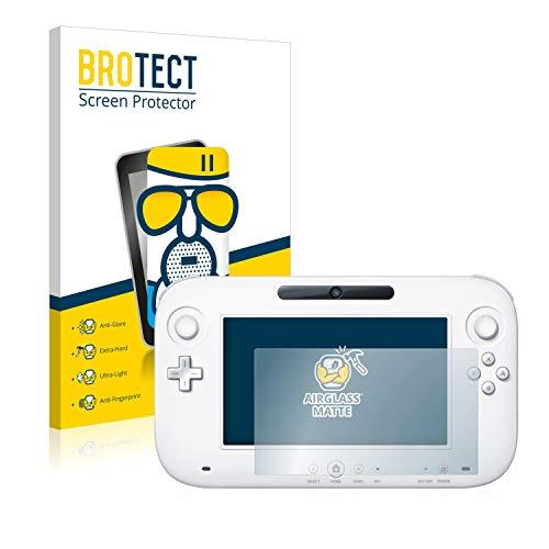 BROTECT Entspiegelungs-Panzerglasfolie kompatibel mit Nintendo Wii U Gamepad (Controller) - Anti-Reflex Panzerglas Schutz-Folie Matt