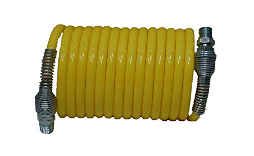 Plastair Industrial SBH412-1-5-U Copolymer Snapback Recoil Air Hose, 12' Length, 0.312
