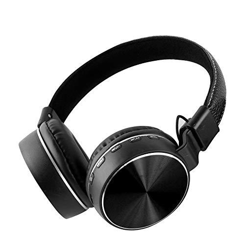 Auriculares Bluetooth con cancelación activa de ruido [Modo de radio FM, Modo de tarjeta TF, Modo con cable] Orejeras de proteínas Subwoofer de alta fidelidad Auriculares inalámbricos Auriculares depo