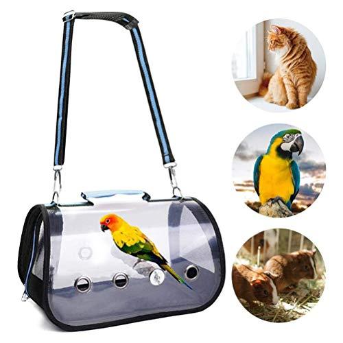 Malsyee Leichte Transportbox für Vögel, Papageien, Reisekäfig mit Sitzstange
