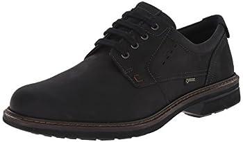 ECCO mens Turn Gore-tex Plain Toe Tie oxfords shoes Black/Black Oil Nubuck 8-8.5 US