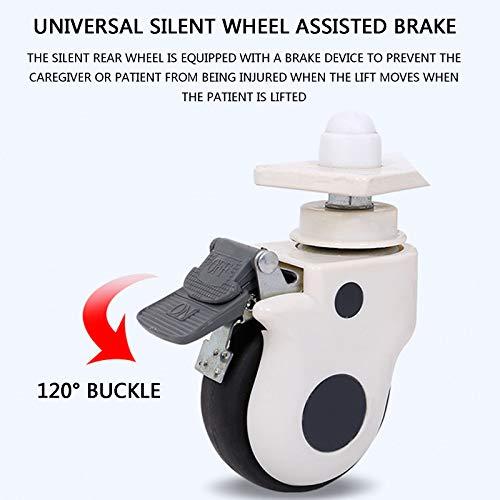 41My3bw9s7L - Gruas para Enfermos, Gruas para Mayores con Vientiane Soundless Wheel, GrúA HidráUlica Patas Ajustables para Pacientes Encamados, Cargar Los Portes 120 Kg