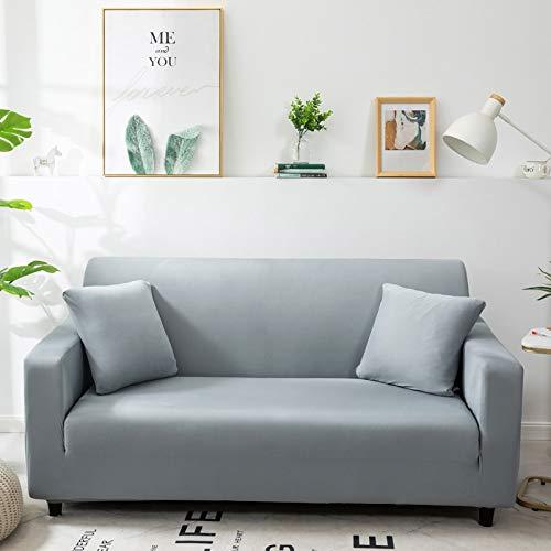 ASCV Funda de sofá de Color sólido para Sala de Estar Blanca como la Nieve Funda de sofá elástica a Prueba de Polvo Funda de sofá Toalla elástica A8 2 plazas