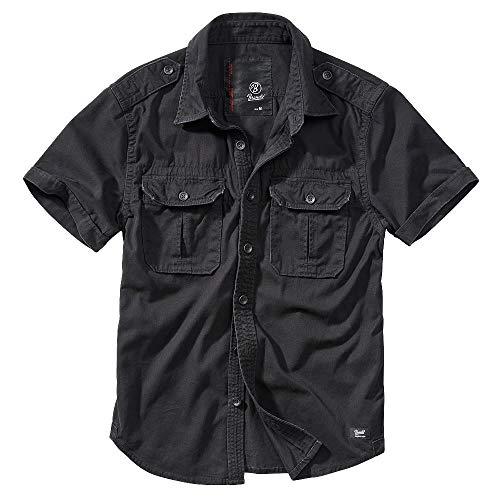 Wombat by BRANDIT Vintage Shirt Herren Cargo Hemd Kurz in Übergröße, Schwarz, 4XL