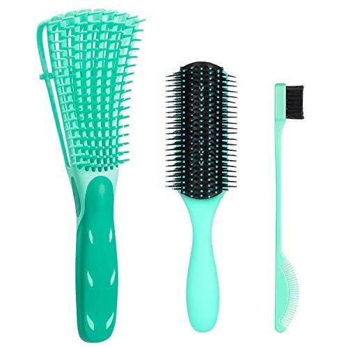 Haarbürste Entwirrungsbürste,Detangling Brush Hair für Afro-Haare 3a bis 4c Verworrenes, Welliges, Lockiges Haar, Entwirrer leicht mit Nass/Trocken,Verbesserung der Haartextur