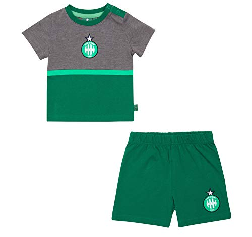 AS Saint Etienne Baby set ASSE T-Shirt + Shorts - Official Collection Boy size 18 Months