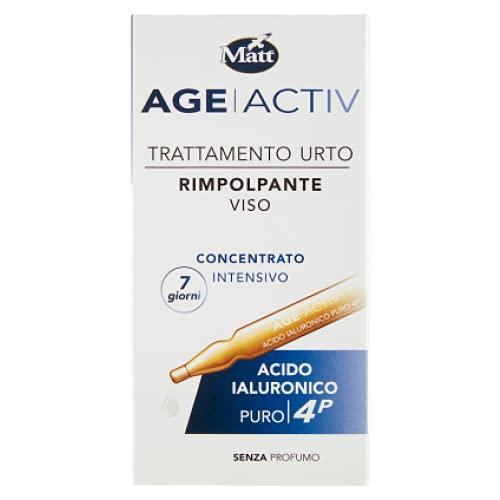 Matt - Age ActivFiale Viso Trattamento Urto Rimpolpante - Acido Ialuronico Puro 4P - Applicazione di 7 Giorni