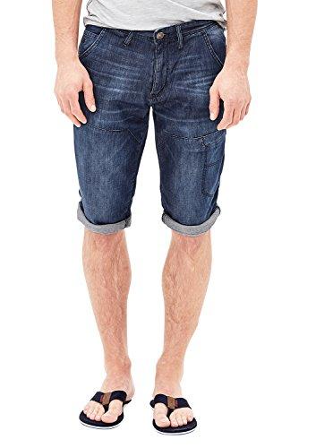 S. Oliver, Tube, kurze Jeans Shorts Bermudas, Venicedenim, darkbue used, W 30 [20345]
