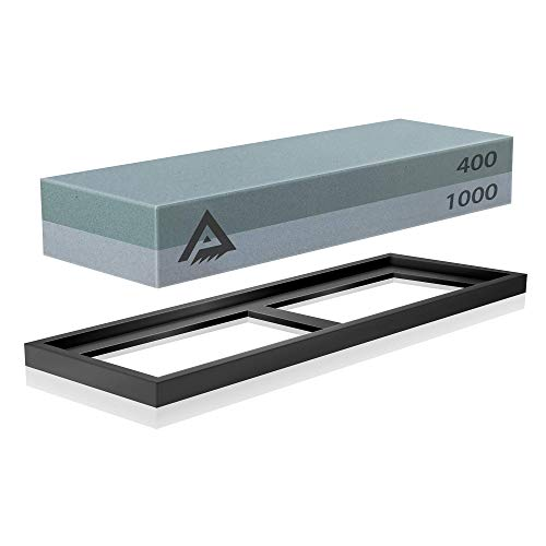 Whetstone Knife Sharpening Stone 2 Side Grit 400/1000 Waterstone | Best Whetstone Sharpener | Knife Sharpener by Paul Plus