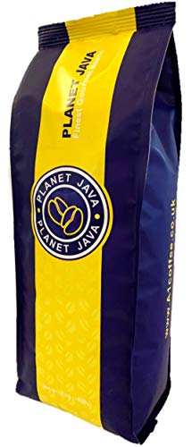 Planet Java Super Crema Coffee Beans - 1kg Wholebeans - Roasted in Small Batches in The UK - Espresso Blend for All Coffee Machines