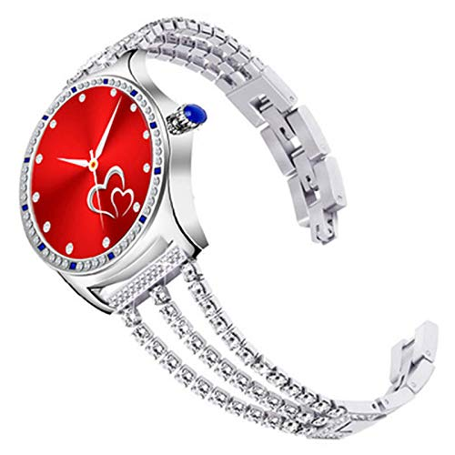 FZXL Z71 Smart Watch Women 1.28 Pulgadas Llamadas Redondas Ladies Watch Fitness Tracker Girls Pulsera Táctil Completa IP67 Impermeable 2021,B