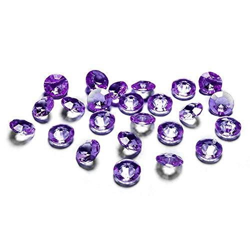 100 Stück Dekosteine Diamanten 1,2 cm // Steru Deko Hochzeit Taufe Kommunion Streudeko Tischdeko (lila 105)