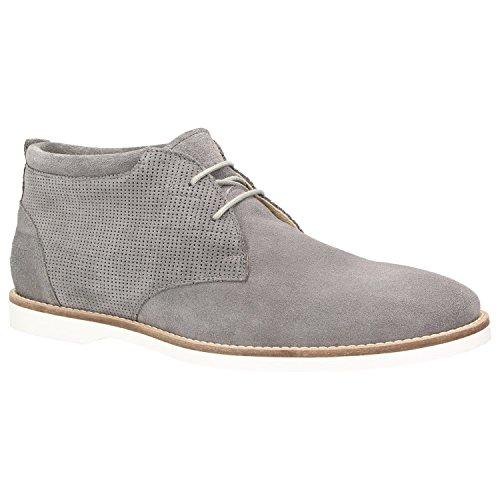 Zweigut® -Hamburg- komood #354 Herren Schuhe Freizeit Derby High-Top Sneaker Veloursleder, Schuhgröße:45, Farbe:grau
