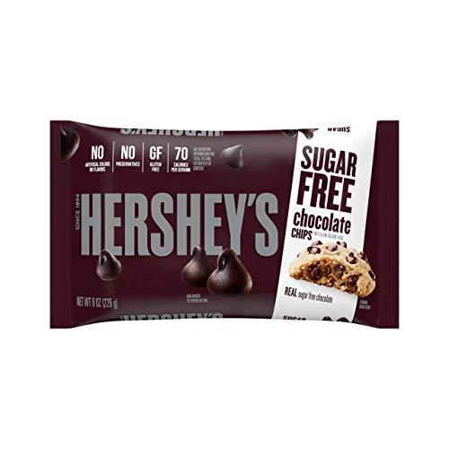 HERSHEY'S Kitchens Sugar Free Chocolate Chips, Bulk Baking Supplies, 8 oz. bag