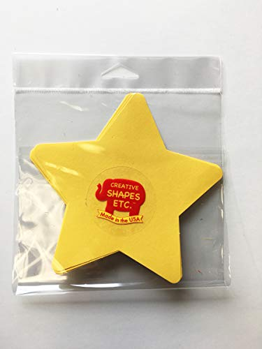 """5.5"""" Star Large Single-Color Creative Cut-Outs, 31 Cut-Outs in a Pack for Star Inspired Classroom/School Craft Projects"""