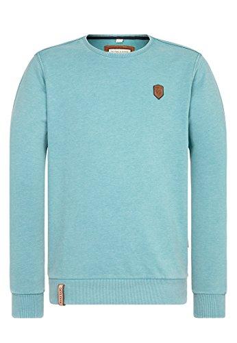 Naketano Male Sweatshirt Der Bro aller Bros Heritage Fresh Blue Melange, XL