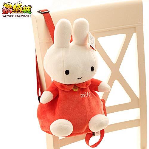 DONGER Cute cartoon bunny children's school bag kindergarten backpack birthday gift-Orange red miffy rabbit