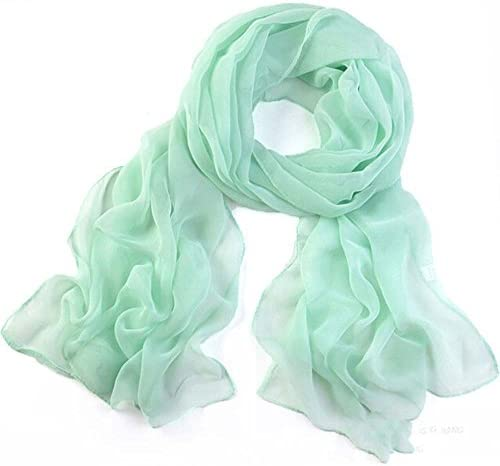 New Womens Ladies Girls Stylish Long Soft Silk Chiffon Scarf Wrap Shawl ScarveLD