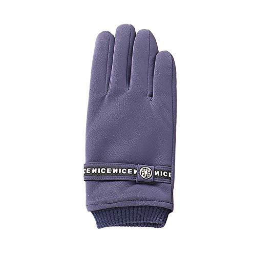 Eariy - Guanti invernali da uomo con touchscreen in pile, elasticizzati, spessi, per attività all'aperto