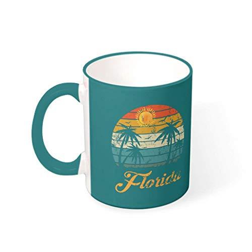 WOSITON Florida Lover Reto - Taza de té con diseño vintage de vajilla, diseño vintage, 330 ml
