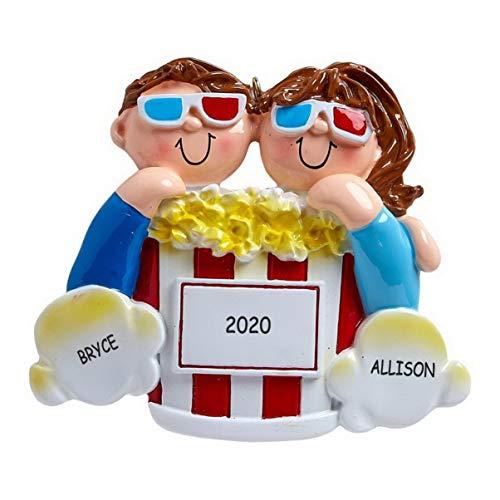 Personalized Fun Couples Quarantine Christmas Ornament (Corona Mask and TP)