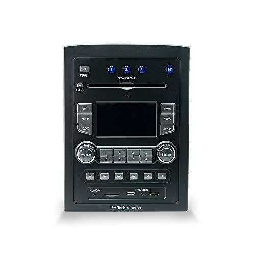 iRV Technology iRV66 AM/FM/CD/DVD/MP3/MP4/USB/SD/HDMI/Digital5.1/Surround Sound/Bluetooth 3 Zonas Soporte de Pared RV Radio...
