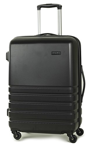 Rock Byron 64cm Hardshell Four Wheel Spinner Suitcase Black