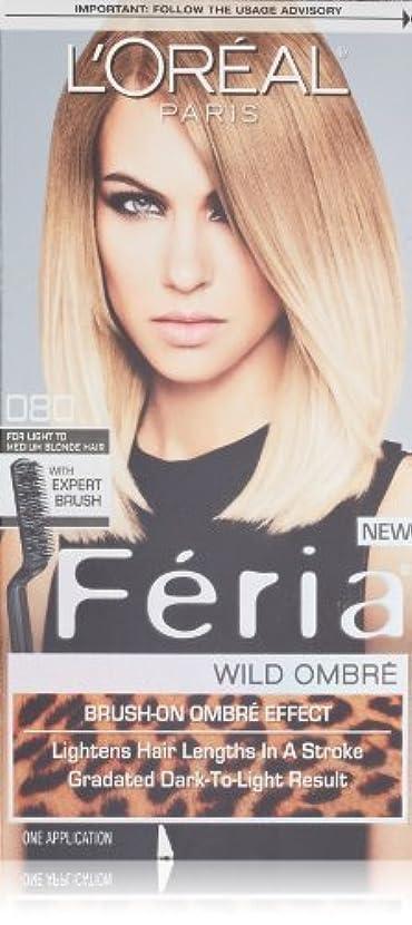 ハンサムデマンド不均一L'Oreal Feria Wild Ombre Hair Color, O80 Light to Medium Blonde by L'Oreal Paris Hair Color [並行輸入品]