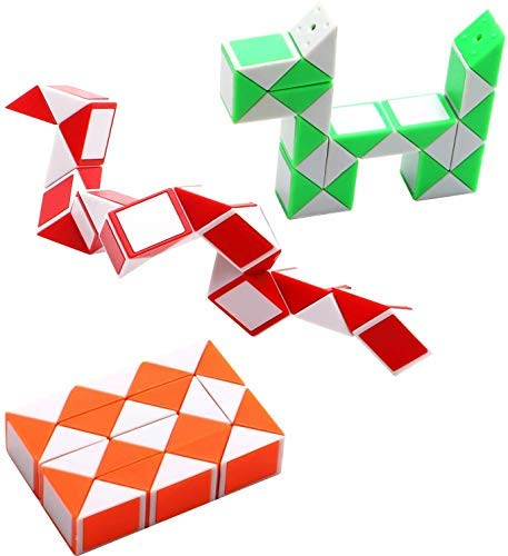 Set of 20 Mini Snake Twist Cube Twist Puzzle Set of 20 Party Return Gift for KDS