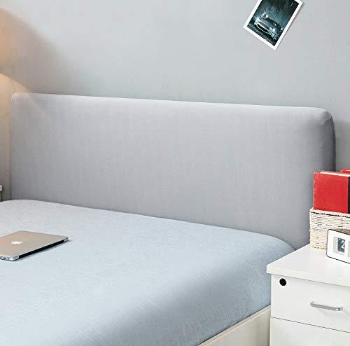 Copertura per testiera per letto, protezione elastica a tinta unita, decorazione per camera da letto, copertura antipolvere, Gray, King (70.5-78 )