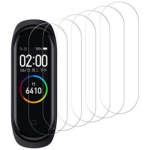 Protector de Pantalla para Xiaomi Mi Band 4, [6 Pack] Cristal Templado para Xiaomi Mi Band 4, Vidrio Templado, Dureza 9H, Anti-Rasguños, Sin Burbujas