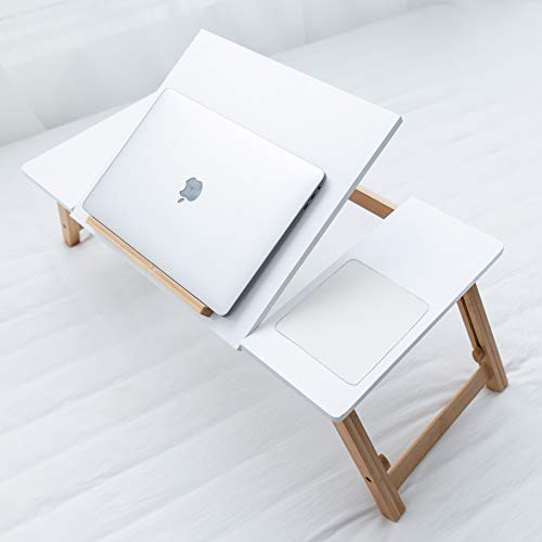 Techup Large Laptop Bed Table , Foldable Computer Lap with Legs , Work from Home Accessories , Bed Desk for Eating