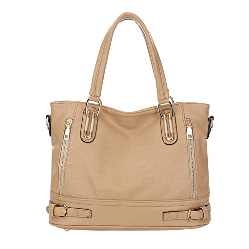 LSAltd Frauen Damen Retro Multifunktions Solide Schulter Tote Handtasche Crossbody Taschen