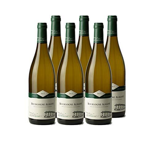 Bourgogne Aligoté Blanc 2017 - Domaine Eric Montchovet - Vin AOC Blanc de Bourgogne - Cépage Aligoté - Lot de 6x75cl