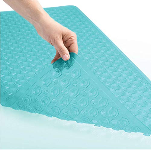 Price comparison product image GORILLA GRIP Original Patented Bath,  Shower,  Tub Mat,  35x16,  Washable,  Antibacterial,  BPA,  Latex,  Phthalate Free,  Bathtub Mats with Drain Holes and Suction Cups,  XL Size Bathroom Mats,  Turquoise