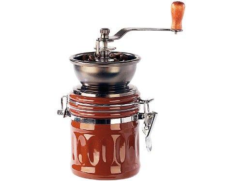 Kaffeemühle 'GENUA' mit Aromabehälter - Frisch und lecker: Kurbelgetriebene Kegelmühle mit regulierbarem Gussmahlwerk!