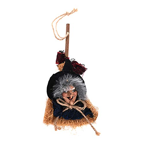 Carttkt vliegende heksen op bezem hangdecoratie perfect voor Halloween