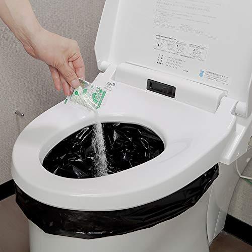 防臭抗菌トイレ50回セット 非常用トイレ 簡易トイレ 15年保存 消臭凝固剤 ポリ手袋付 水がなくても簡単処理 断水対策 携帯トイレ 日本製