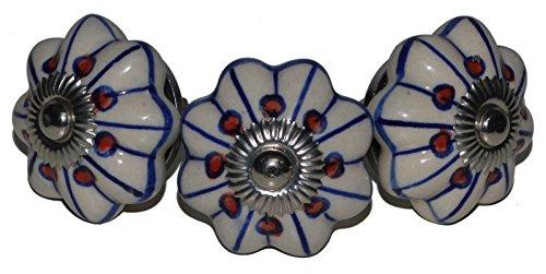 Meubelknoppen meubelknop meubelgreep keramiek porselein handgeschilderd vintage meubelknoppen voor kast Indisch 68 4 cm blauw