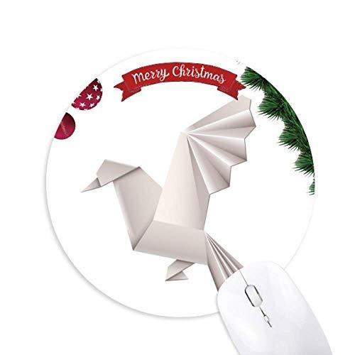 Origami Abstract Geometrisches Pigeon Muster Rundgummi Maus Pad Weihnachtsbaum Mat