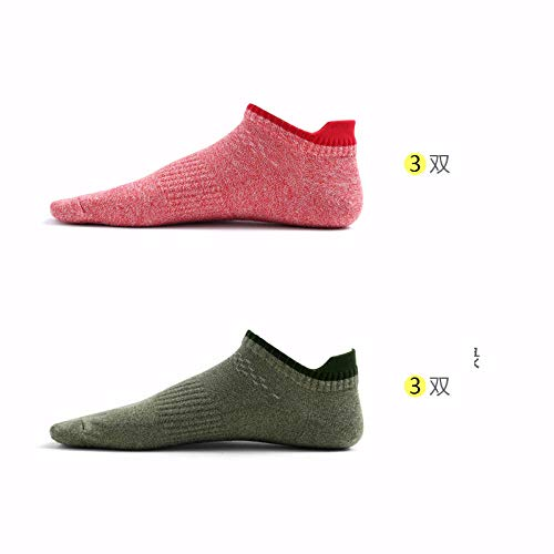 TIGERROSA Beste lente en zomer mannen Deodorant korte buis laag om hoogwaardige katoenen sokken een verpakking met 6 paar stijl C te helpen