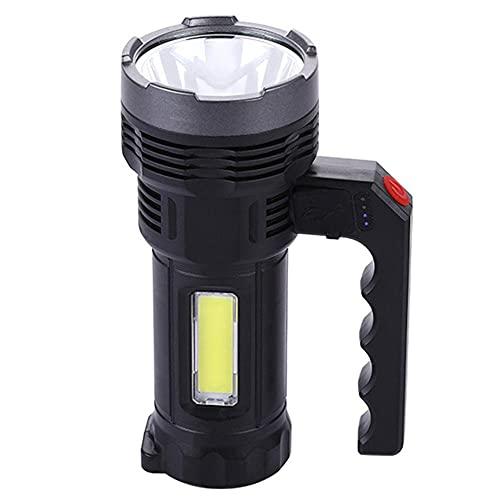 Antorcha del LED, antorcha Recargable Linterna portátil USB Linterna Solar al Aire Libre Que acampa yendo Searchlight