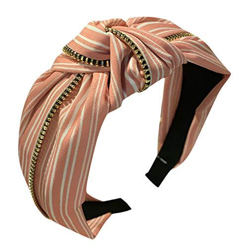 Mode Damen Haarschmuck Stirnband Stoff Haarband Kopf Wickeln ZubehöR Bequemes Tuch Jeden Tag Frisches Und Schönes Breites Stirnbänder Frisuren Party Geschenk Stirnbands (Einheitsgröße, Heiß Rosa)