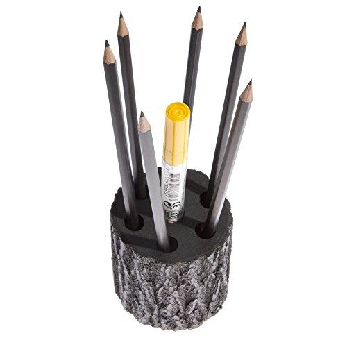 手作り木製ペン/鉛筆ホルダーby Oak &ログ|eco製品