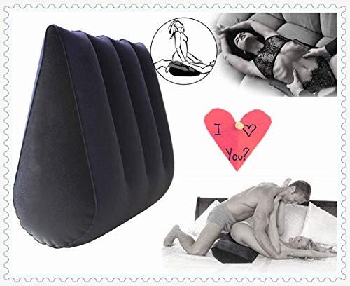 sensensen Almohada Inflable-Almohada Multifuncional-cojín-Ayuda para Yoga (Azul)