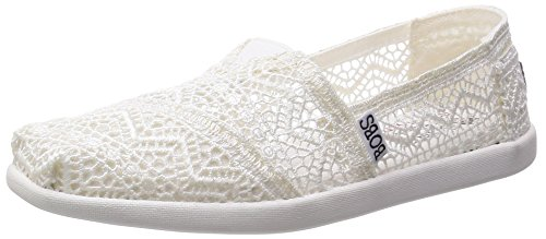 BOBS from Skechers Bobs World - Zapatos planos para mujer, blanco (Blanco),...