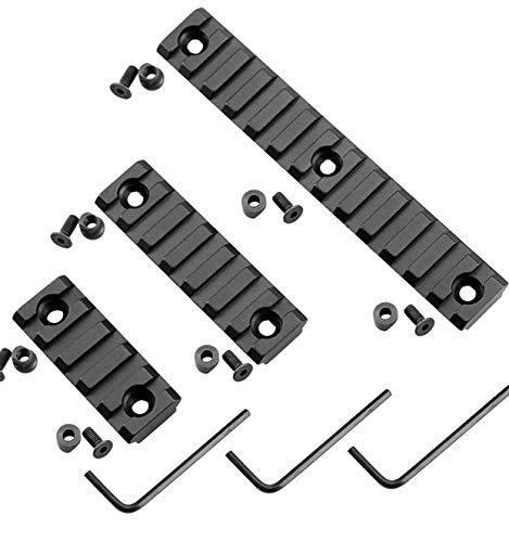 Tree-on-Life Haltbare Schienenprofile für das Keymod-System Modkin Lightweight Keymod Rail Mount Packung mit 3 Aluminium-Schienen mit 13 Steckplätzen und 7 Steckplätzen und 5 Steckplätzen