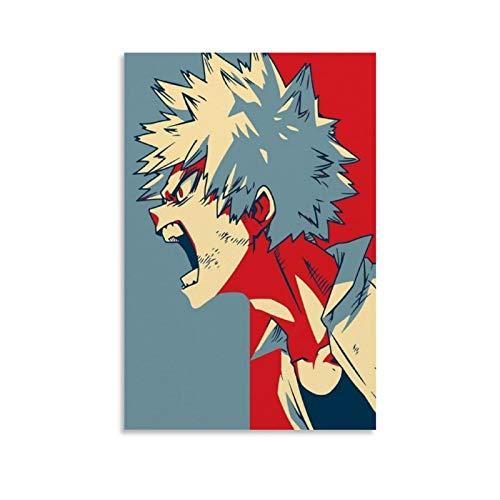 SDFZ - Poster su tela con anime Instabuy, My Hero Academia Bakugou, per ufficio, famiglia, camera da letto, decorazione da parete, 30 x 45 cm