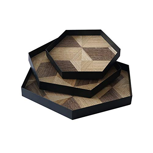 Serving Tray Wood Serving Tray Decorative Serving Trays Platter for Breakfast Lunch Dinner Appetizers Patio Coffee Table Party Coffee Table Tray