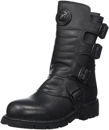 New Rock Unisex-Erwachsene M-373X-S6 Biker Boots, Schwarz (Black 001), 43 EU
